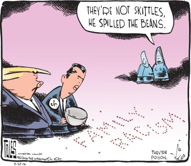 Political Cartoons -- Donald J. Trump, Jr.